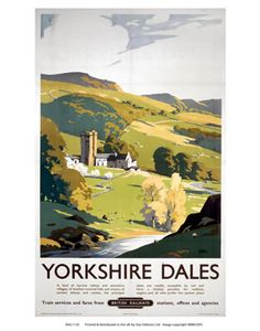 Yorkshire Dales British Railways Large Metal Advertising Sign for sale online Train Posters, Railway Posters, Posters Uk, Retro Posters, Yorkshire Dales, Yorkshire England, North Yorkshire, Cornwall England, British Railways