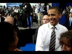 """A young deaf man finds himself next to Obama. Signs """"I am proud of you."""" Obama signs back """"thank you."""" Obama is the coolest president we have EVER had."""