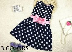 Kids Toddler Girls Princess Dress Polka Dots Bow knot Dress Frock Suit TKGC014 #Unbranded #ChristmasFormalHolidayPartyWedding