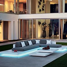 "Make your outdoor space come to life with ""The Platform"" sofa from NAKKASH Gallery #iconic #furniture #interiordesign #interior #design #homedecor #home #decor #decoration #interiordesigner #instahome #instastyle #style #art #outdoor #garden #pool #lighting #unique #architecture #contemporary #luxury #elegant #inspiration #uae #dxb #mydubai #dubai #middleeast nakkashgallery"