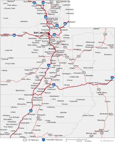 Map of Utah Cities - Utah Road Map