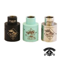 Stainless Steel top cap with integrated drip tip. Anarchist and Tugboat logos engraved 6 staggered air holes for maximum vapor production Fits on Tugboat v2 atomizer
