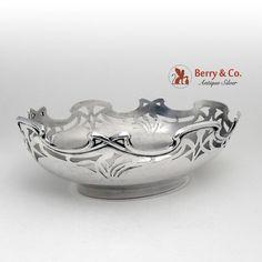 Curved Lines, Natural Forms, Antique Silver, Serving Bowls, Art Nouveau, Decorative Bowls, Antiques, Beautiful, Jewelry