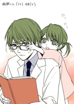 Awww, this is adorable!!! :D Midorima and his little sis ^^