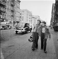 Shoe Shine Boy [Mickey and a friend walking down the street.]