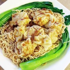 Wonton noodle soup or wonton lo mein?  Really depends on how I'm feeling but I love both! As pictured this is the wonton lo mein where thewontons are placed on a large bed ofnoodles instead of in soup. Still looking for the best wonton spot out there...