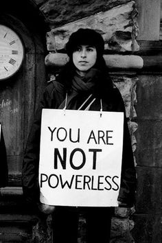 You Are Not Powerless.  + Alabama Chanin