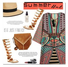 """Top it off: Summer Hats"" by godiva4 ❤ liked on Polyvore featuring H&M, Christys', Yves Saint Laurent, Chinese Laundry, Olivine, MAC Cosmetics and summerhat"