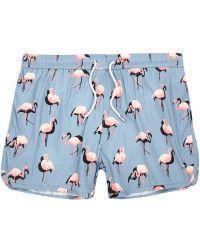 c37ccdca47 River Island | Blue Flamingo Print Runner Swim Shorts | Lyst Flamingo Shorts,  Flamingo Print