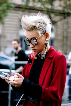 Eyeglasses, haircut