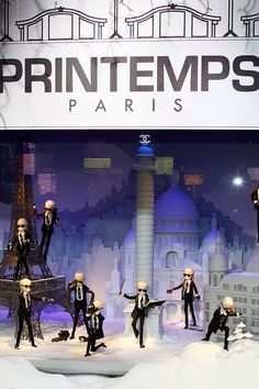 Karl Lagerfeld's Printemps window display for Christmas 2011 Paris France, each window has a cute miniature story!