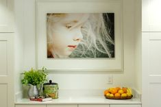 how gorgeous - and simple! Enlarge a close-up of your child and frame it in a white mat and frame