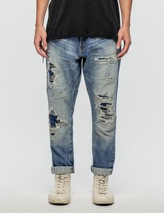 Denim By Vanquish & Fragment Five Years Wash Tapered 9/10 Cropped Length denim Jeans