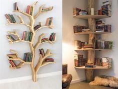 If you like the designs that break the molds and break the memorization .- Kalıpları yıkan ve ezber bozan tasarımlardan hoşlanıyorsanız bu kitaplık… If you like mold breaking and memorizing designs, you will love these library models! Diy Bookshelf Wall, Kitchen Bookshelf, Creative Bookshelves, Decorating Bookshelves, Bookshelf Design, Diy Furniture, Furniture Design, Ideas Hogar, Cute Room Decor