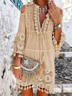 Outstanding boho dresses are readily available on our internet site. Have a look and you wont be sorry you did. Boho Style Dresses, Hippie Dresses, Boho Outfits, Boho Dress, Cute Dresses, Casual Dresses, Summer Outfits, Cute Outfits, Fashion Outfits
