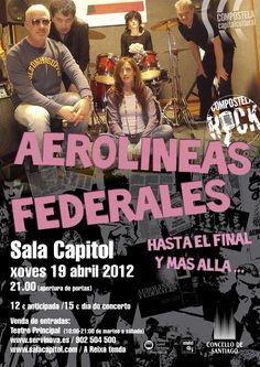 AEROLINEAS FEDERALES: 19 DE ABRIL EN LA SALA CAPITOL DE SDC