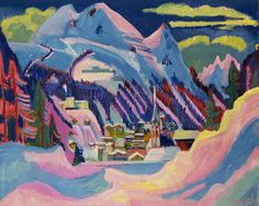 Ernst Ludwig Kirchner - Davos en hiver www.artexperiencenyc.com