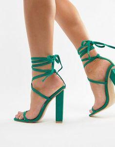 52b875ce2d881c Simmi London block heel tie up sandals Tie Up Sandals