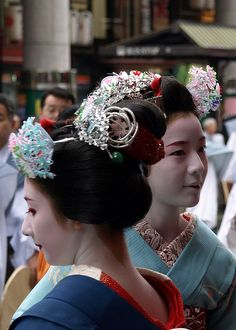 Maiko at Gion Festival in Kyoto, Japan