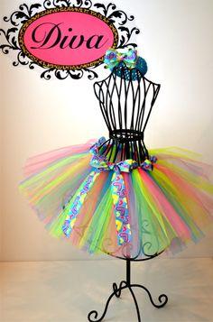 Bright Colors Tulle Tutu $27 #etsy #tutu #girls