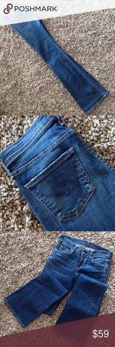 """Citizens of Humanity Kelly sz 26.PacificOcean Blue Low rise Boot cut """"Kelly"""" size 26 waist and 34 length. Very good condition Citizens of Humanity Jeans Boot Cut"""