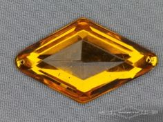 Strass steen 25mm ruit oker geel