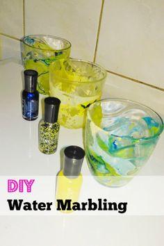 DIY: Water marbling