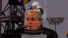 Óscar Chávez en el Zócalo de la Ciudad de México