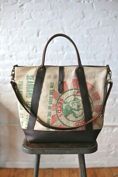 1940's era Seed Bag and Leather Weekend Bag