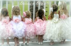 Pale pink satin organza flower girl dress by DaisiesandDamsels