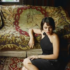 Norah Jones with a sweet little bob and bangs