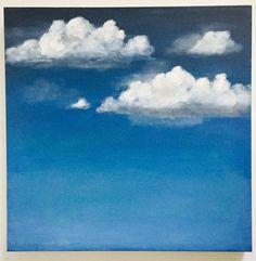 Original Acrylic Painting Cloud Painting Cloud Art