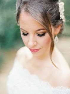 #makeup  Photography: Erich McVey - erichmcvey.com  Read More: http://www.stylemepretty.com/2014/06/19/southern-garden-wedding-wrapped-in-elegance/