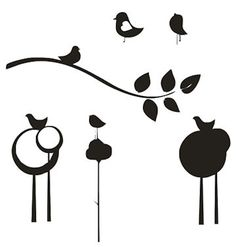 Trees, Birds & Branches - SVG Freebies