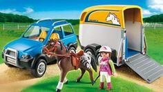 Amazon.de:PLAYMOBIL 5223 - PKW mit Pferdeanhänger