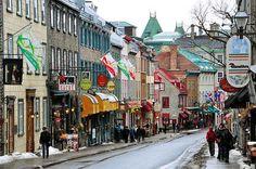 El casco antiguo de Quebec (o Viejo Quebec) es la parte de la ciudad comprendida en el interior de las fortificaciones. Se divide en dos partes, Ciudad Alta y Ciudad Baja y cuenta con un atractivo sin igual en la zona, de hecho se trata de uno de los mayores puntos de interés turístico de todo el país (y hablamos de Canadá, una nación a la que no le faltan estrellas en su firmamento turístico). Imprescindible en invierno cuando sus callejuelas se llenan de nieve, adornos y luces... #quebec