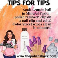 Mineral Fusion, Sassy Nails, Nail Room, Nail Polish Strips, Color Street Nails, Cleaning Wipes, Tuesday, Balls, How To Apply