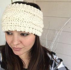 e636a5e3dba Chunky knit braided headband by LushyTushy on Etsy Warm Headbands
