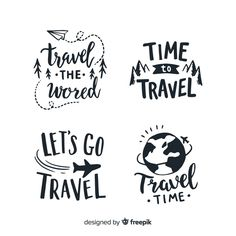 Let's travel to the world. Let's travel to the world. Calligraphy Quotes Doodles, Doodle Quotes, Hand Lettering Quotes, Typography Quotes, Typography Poster, Typography Design, Lettering Tutorial, Drawing Quotes, Handwritten Fonts