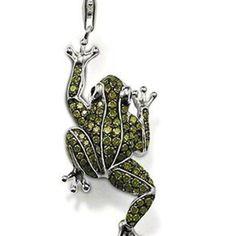 pendentif en argent forme de grenouille pour bijoux fantaisies