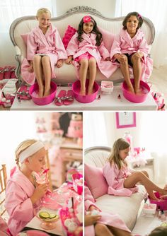 A Glitzy & Glam Barbie Spa Birthday Party Tired of the same old birthday party ideas? Try a GLITZY & GLAM SPA theme! Check out how one mom made a birthday party her girl won't soon forget! Lila Party, Spa Day Party, Kids Spa Party, Sleepover Birthday Parties, Birthday Party Themes, Barbie Birthday Party Games, Barbie Theme Party, 7th Birthday, Birthday Ideas For Girls
