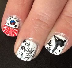 Martial art nails: these could totally be for Tang Soo Do!