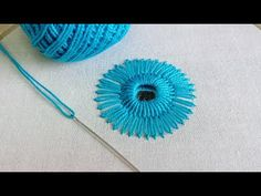 Mirror Work, Hand Embroidery Mirror Work, Mirror Work Embroidery, Hand Embroidery for Beginners - YouTube Mirror Work, Embroidery For Beginners, Hand Embroidery Stitches, Embroidery Ideas, Different Stitches, Handicraft, The Creator, Turquoise, Youtube