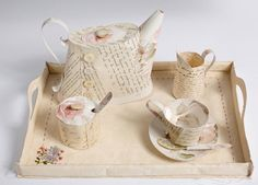 Jennifer Collier's objects stitched and created from paper