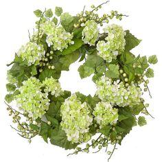 Summer Green Hydrangea Wreath # WR4692