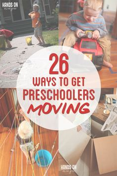 26 Gross motor activities for preschoolers to get moving!