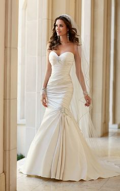 Cheap dress manufacture, Buy Quality dress move directly from China dress tattoo Suppliers: Hot selling stella york bridal gowns MGW5980 vestido de festa elegant sweetheart mermaid satin wedding dress plus size
