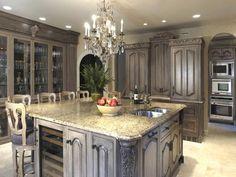 Gray glazed kitchen cabinets                                                                                                                                                                                 More