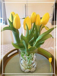 yellow tulips tulipani gialli tulipanes amarillos centro mesa centro tavola