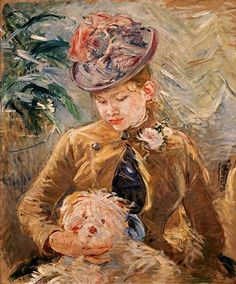 Berthe Morisot, Young Girl with a Dog